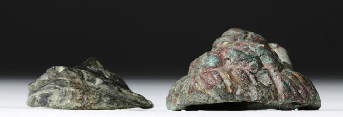 Roman Bronze Appliques - Face and Lion (pr) - 6