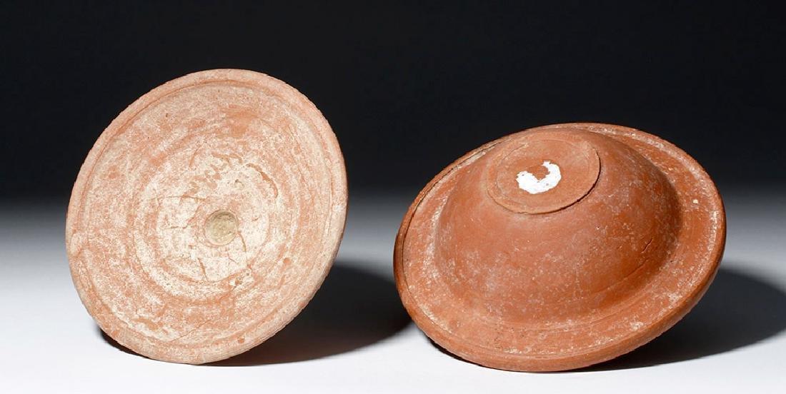 Roman Terra Sigilata Redware Covered Dish - 6