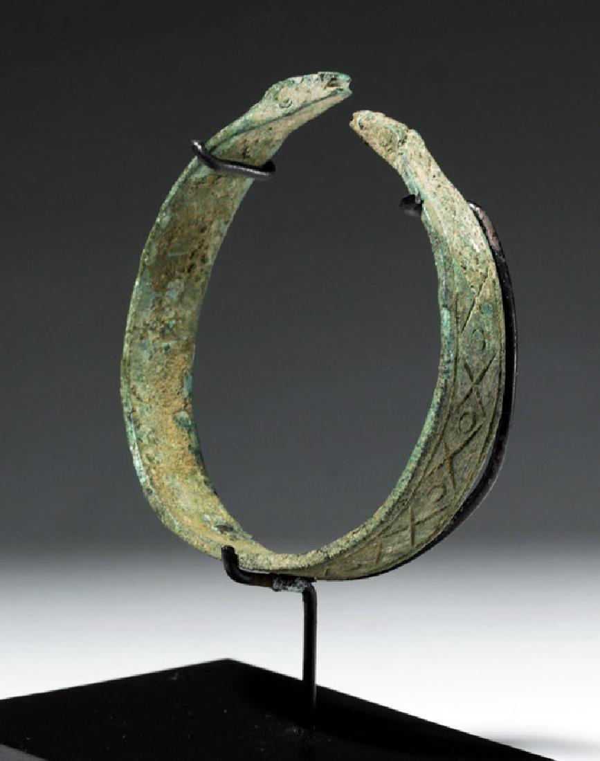 Luristan Bronze Bracelet w/ Incised Motifs