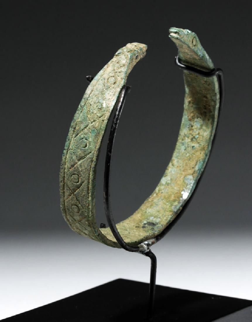 Luristan Bronze Bracelet w/ Incised Motifs - 2