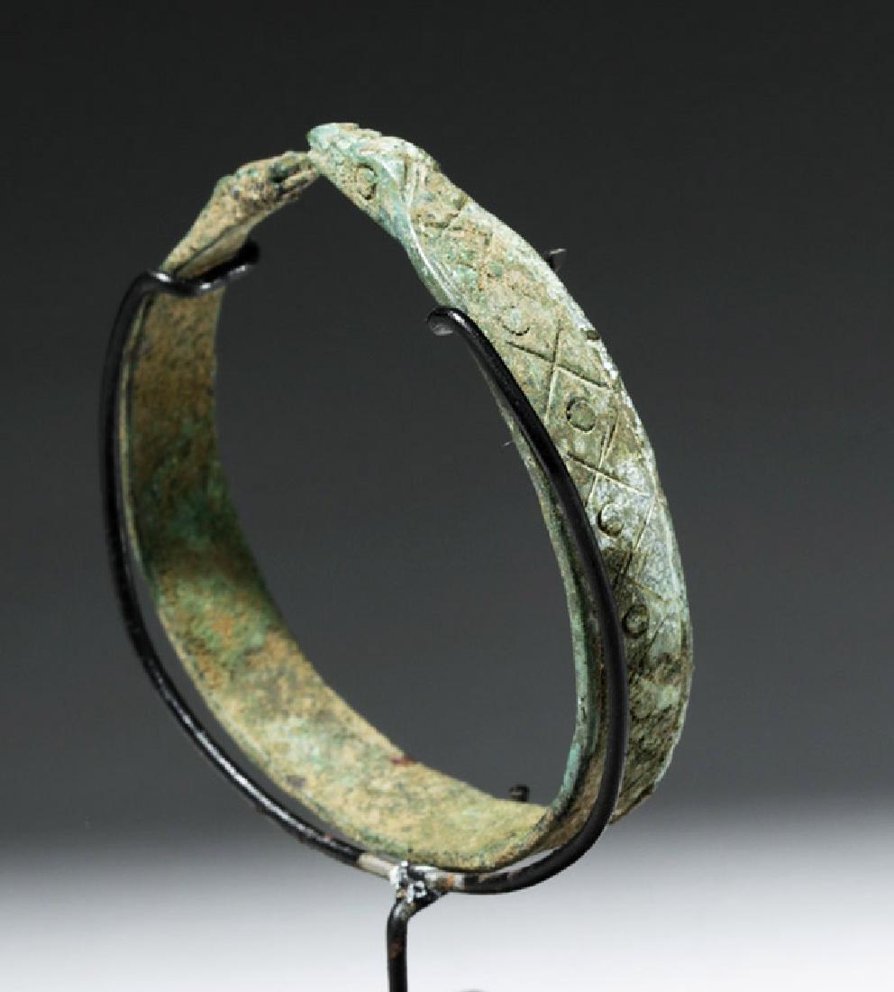 Luristan Bronze Bracelet w/ Incised Motifs - 3