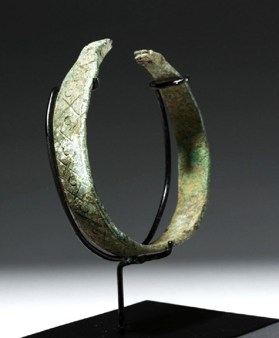 Luristan Bronze Bracelet w/ Incised Motifs - 4
