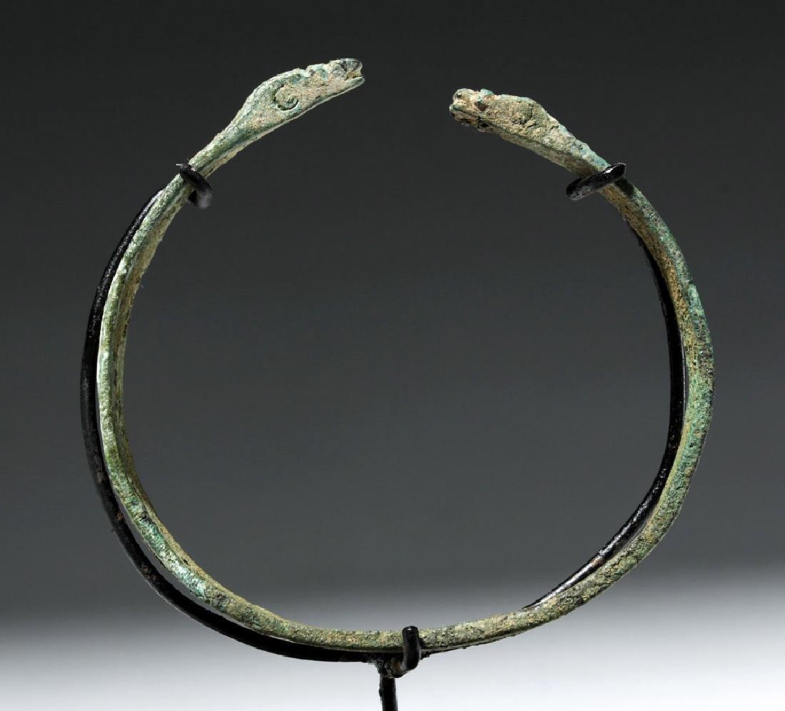 Luristan Bronze Bracelet w/ Incised Motifs - 5