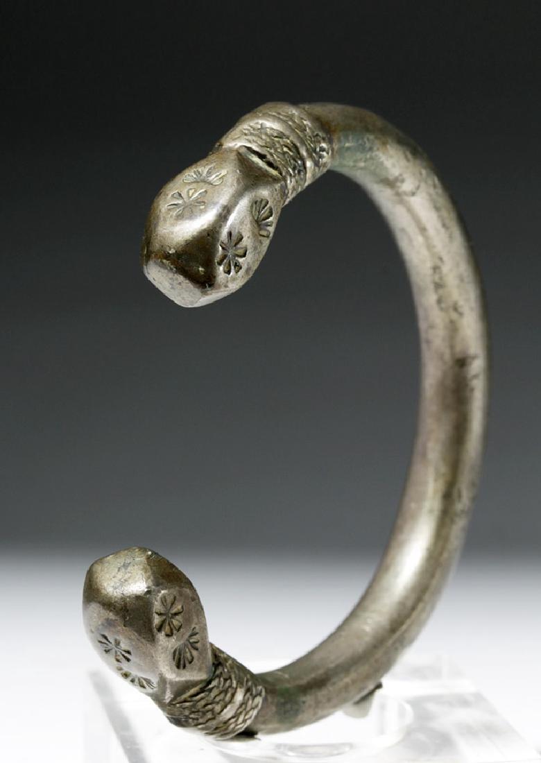 Parthian / Sassanian Silver Bracelet - 4