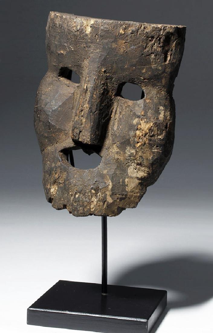 18th C. Indian Wood Citipati Mask - Momento Mori