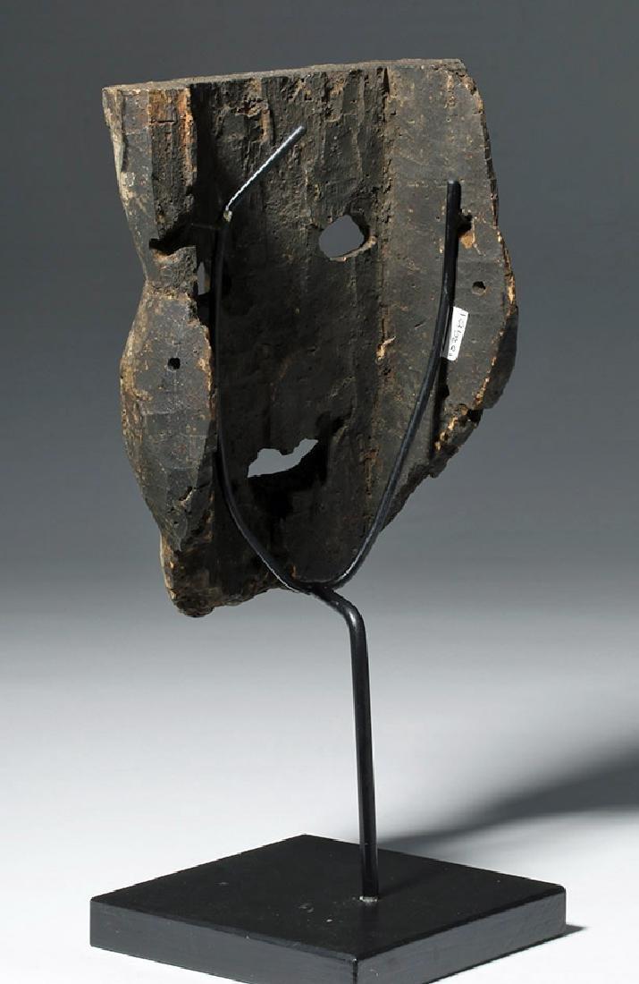 18th C. Indian Wood Citipati Mask - Momento Mori - 2