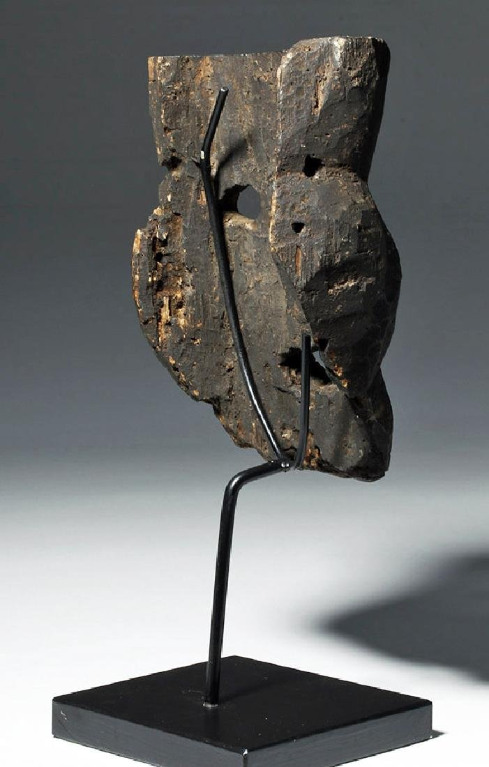 18th C. Indian Wood Citipati Mask - Momento Mori - 3