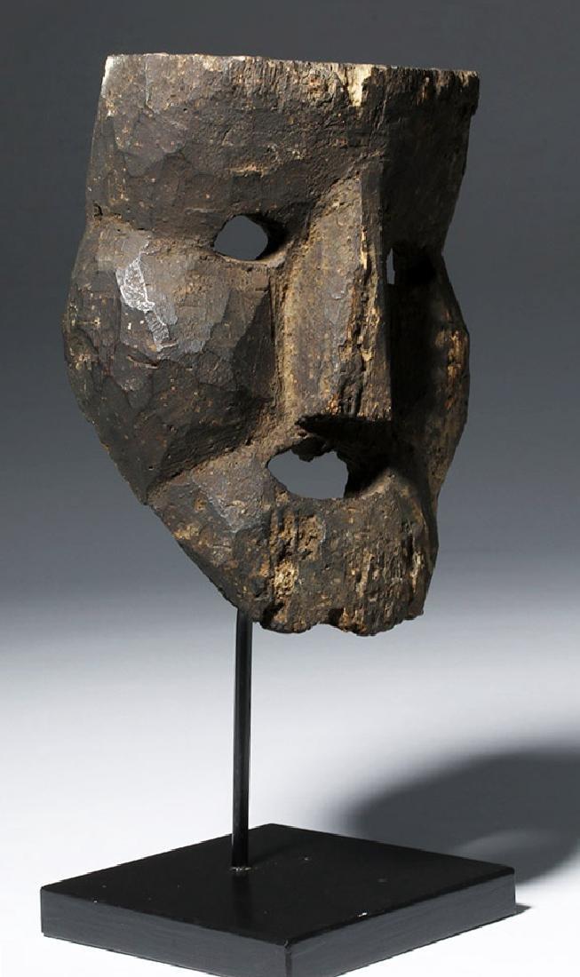 18th C. Indian Wood Citipati Mask - Momento Mori - 4