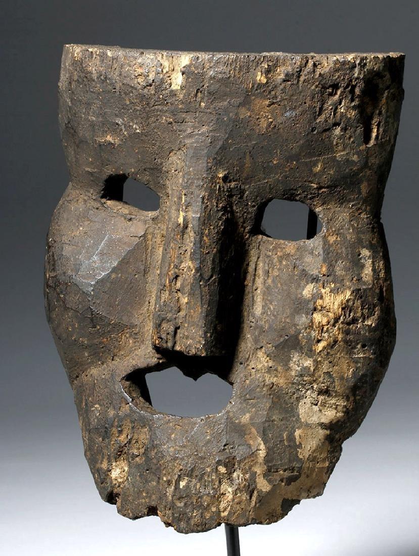 18th C. Indian Wood Citipati Mask - Momento Mori - 5