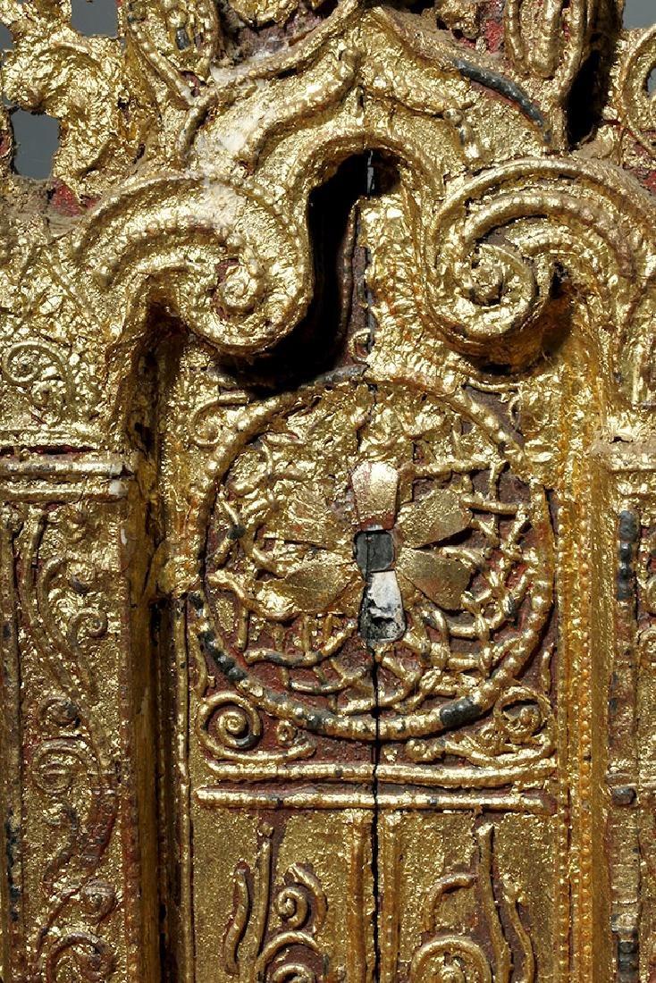 19th C. Burmese Gilded Wood Shrine Platform - 10