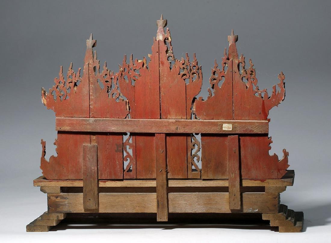19th C. Burmese Gilded Wood Shrine Platform - 3