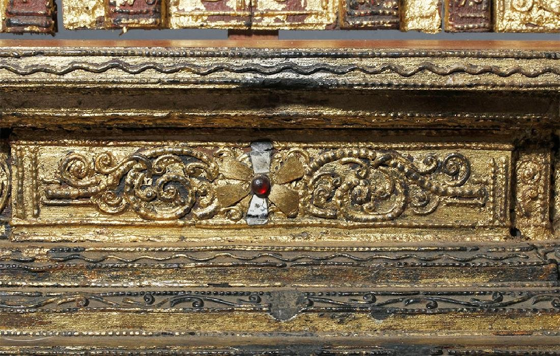 19th C. Burmese Gilded Wood Shrine Platform - 6
