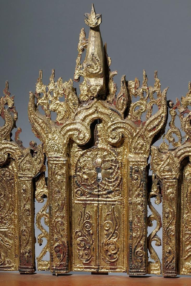 19th C. Burmese Gilded Wood Shrine Platform - 9
