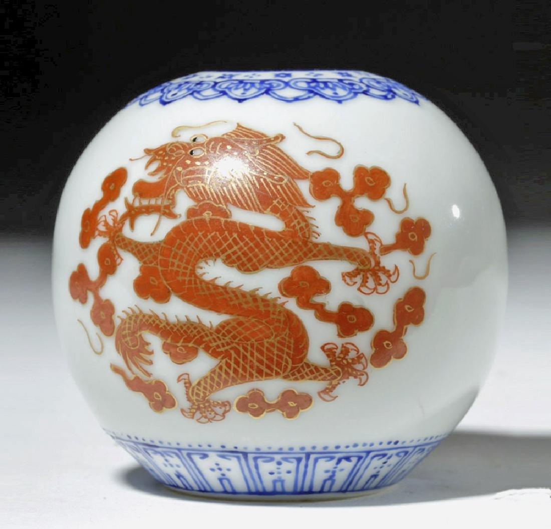 18th C. Incredibly Thin Chinese Porcelain Jar - Dragons - 2