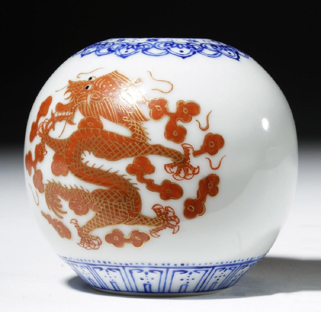 18th C. Incredibly Thin Chinese Porcelain Jar - Dragons - 4