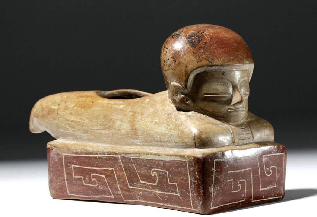 Rare Chorrera Rectangular Bichrome Figural Box