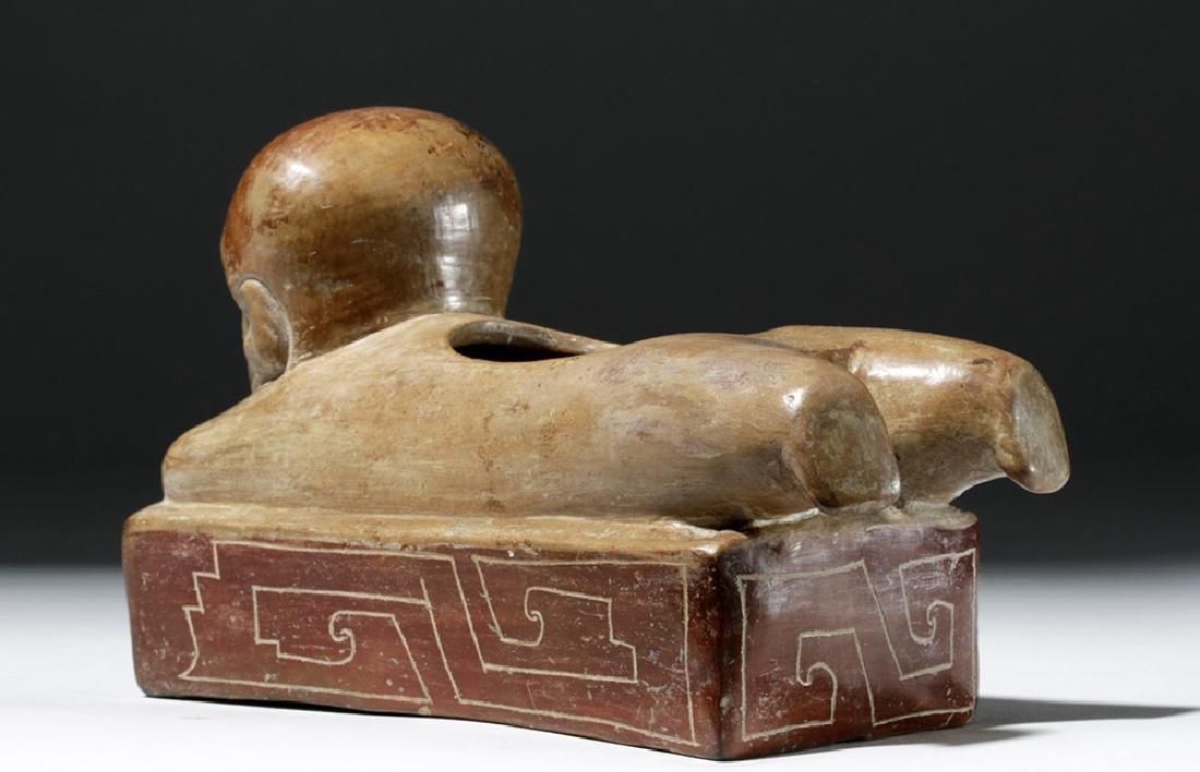 Rare Chorrera Rectangular Bichrome Figural Box - 2
