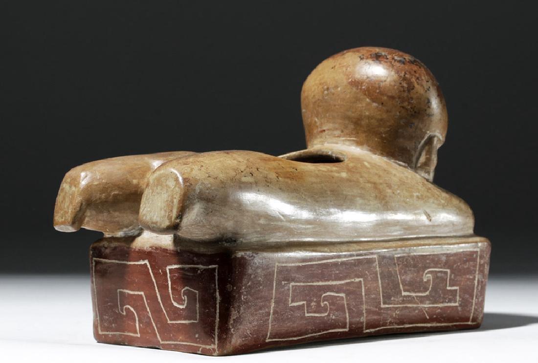 Rare Chorrera Rectangular Bichrome Figural Box - 3
