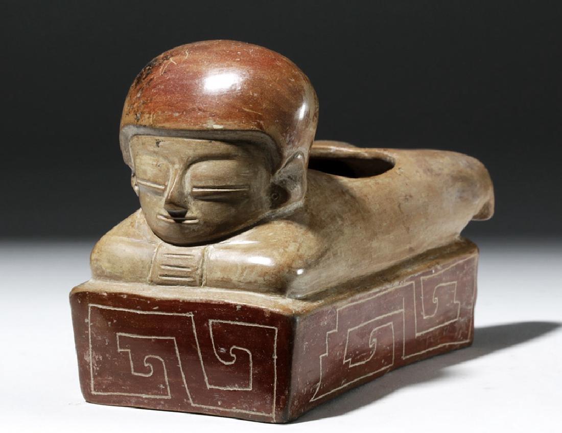Rare Chorrera Rectangular Bichrome Figural Box - 4
