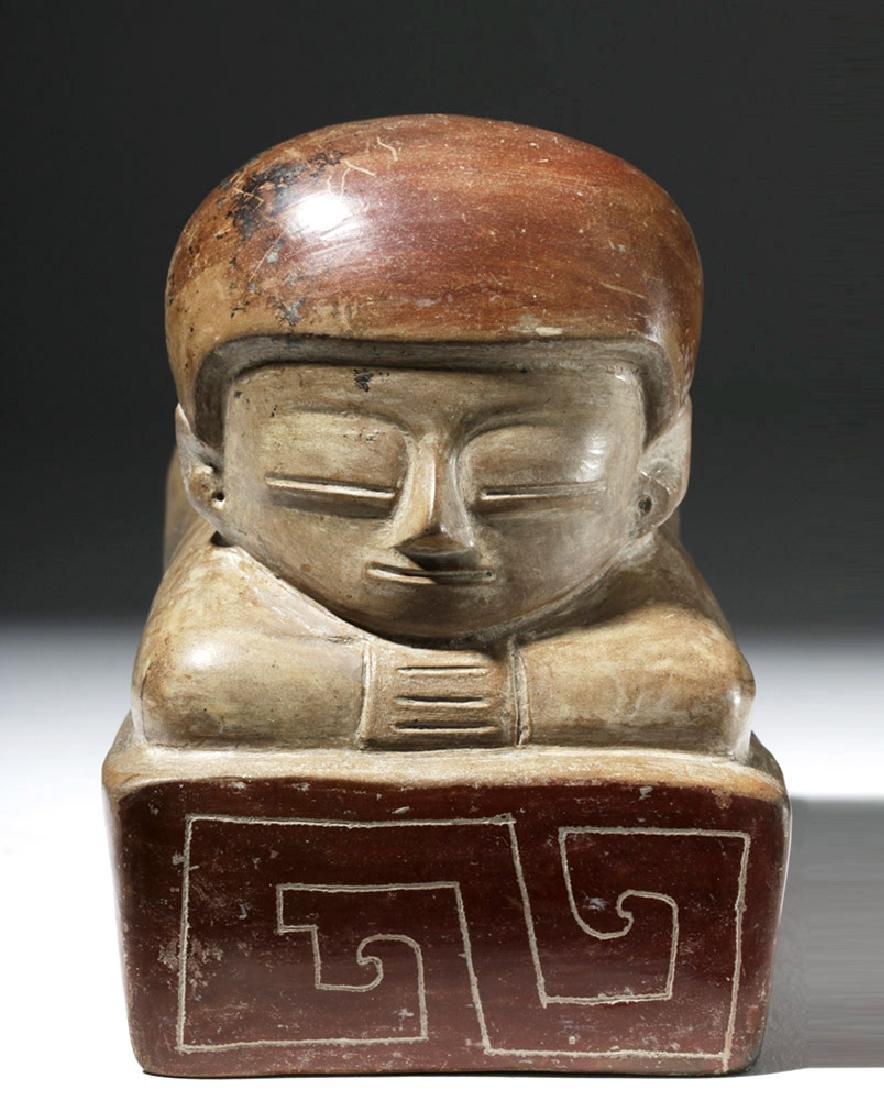 Rare Chorrera Rectangular Bichrome Figural Box - 5