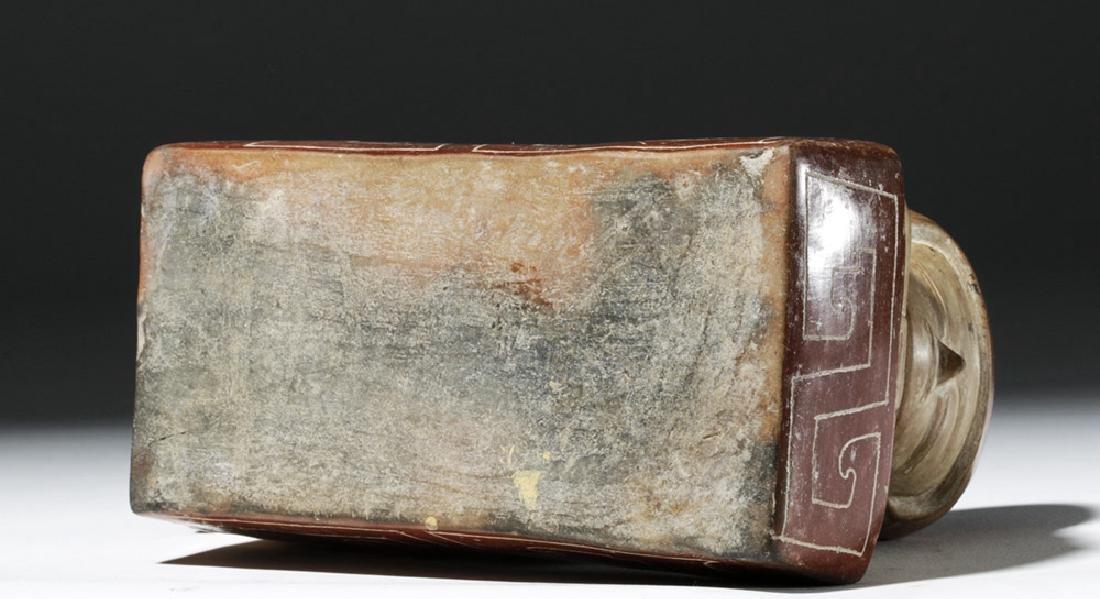 Rare Chorrera Rectangular Bichrome Figural Box - 6