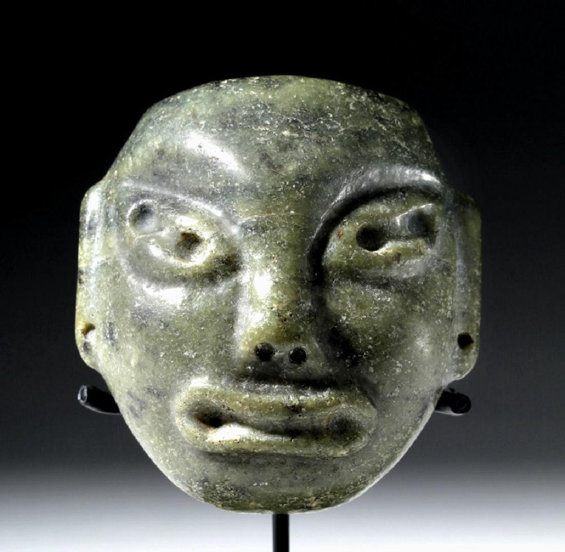 Pre-Columbian Olmec Greenstone Maskette