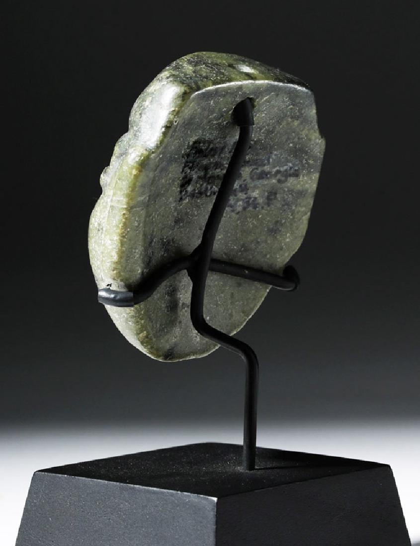 Pre-Columbian Olmec Greenstone Maskette - 2