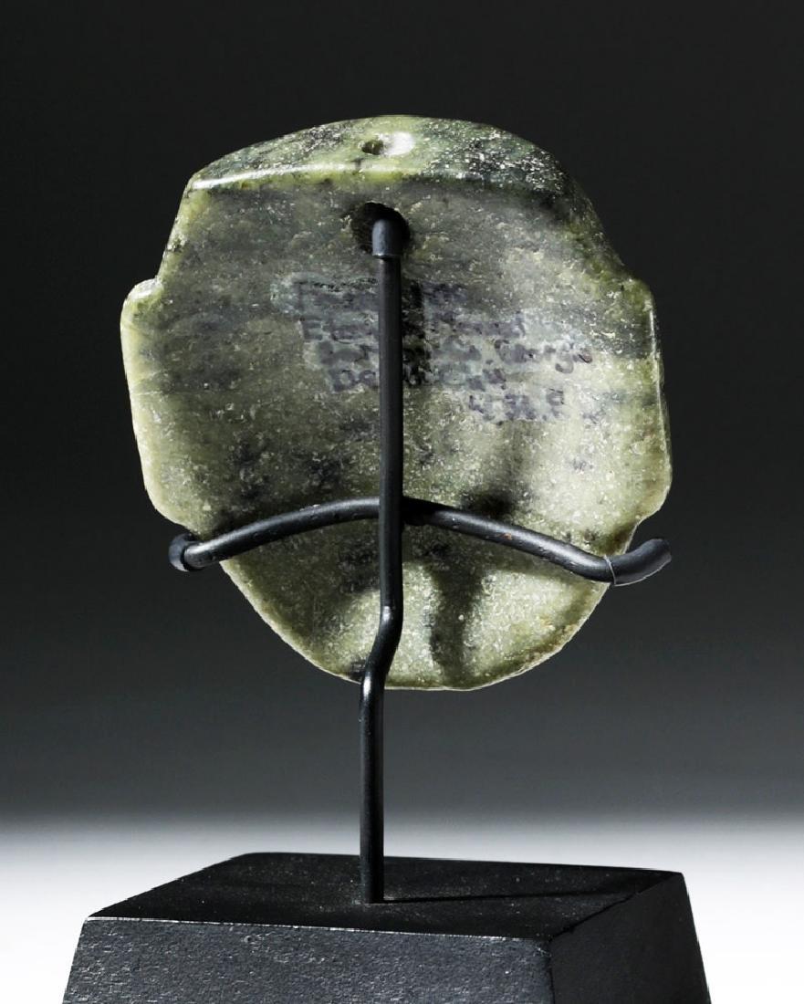 Pre-Columbian Olmec Greenstone Maskette - 3