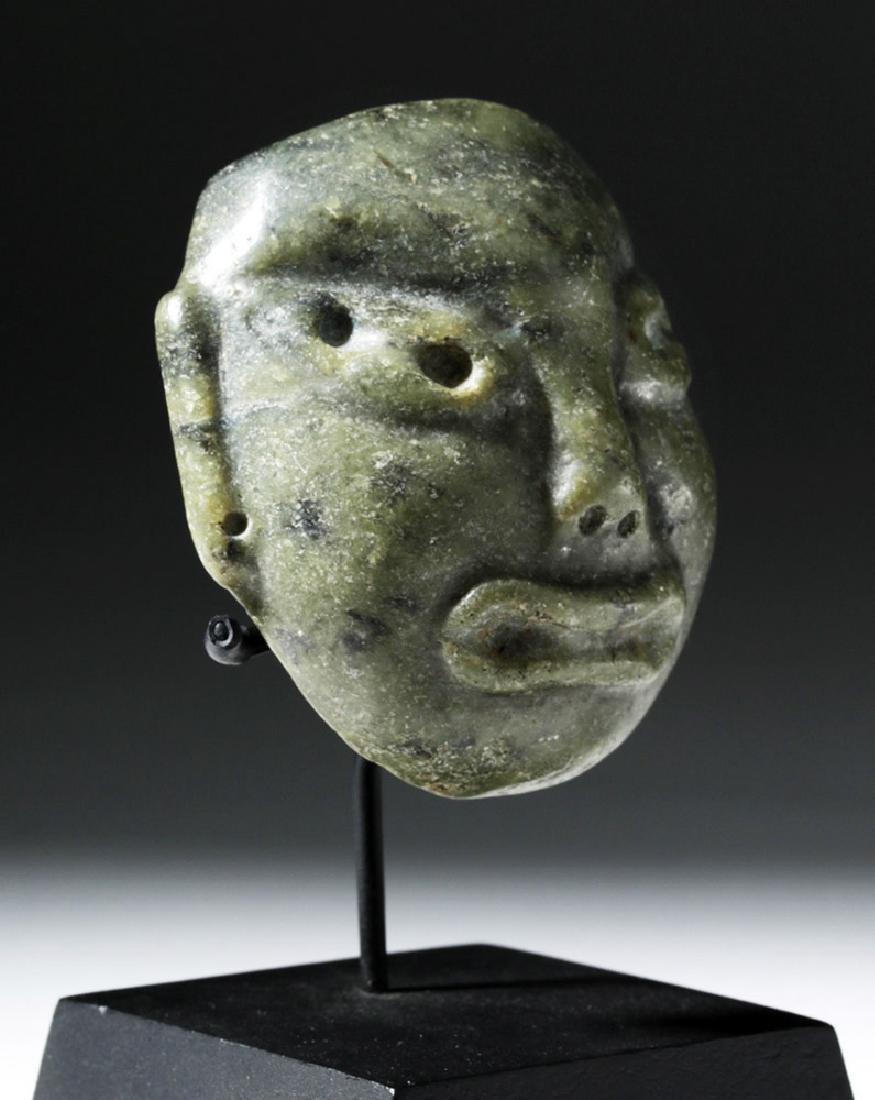 Pre-Columbian Olmec Greenstone Maskette - 4