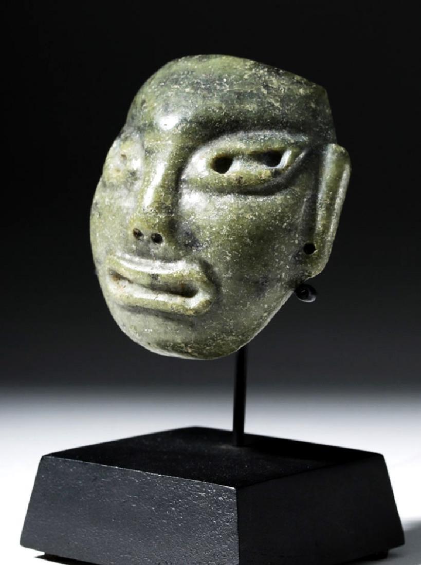 Pre-Columbian Olmec Greenstone Maskette - 5