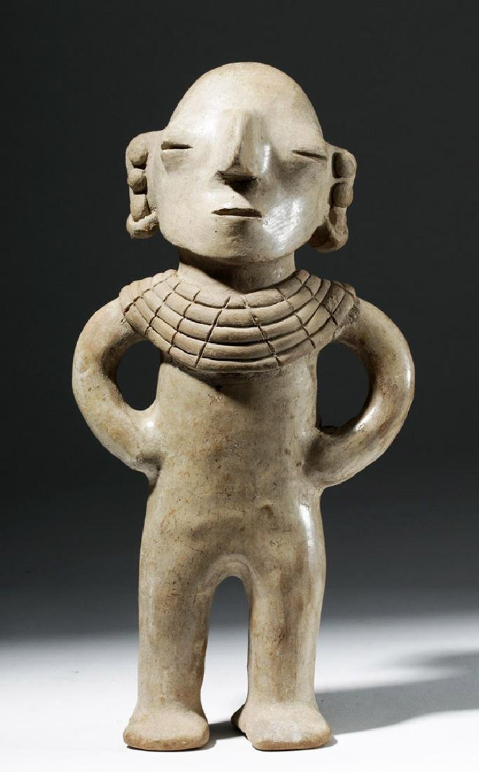 Very Rare Chorrera Pottery Human Figural Whistle