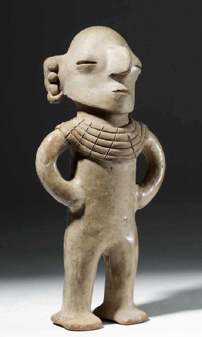 Very Rare Chorrera Pottery Human Figural Whistle - 4