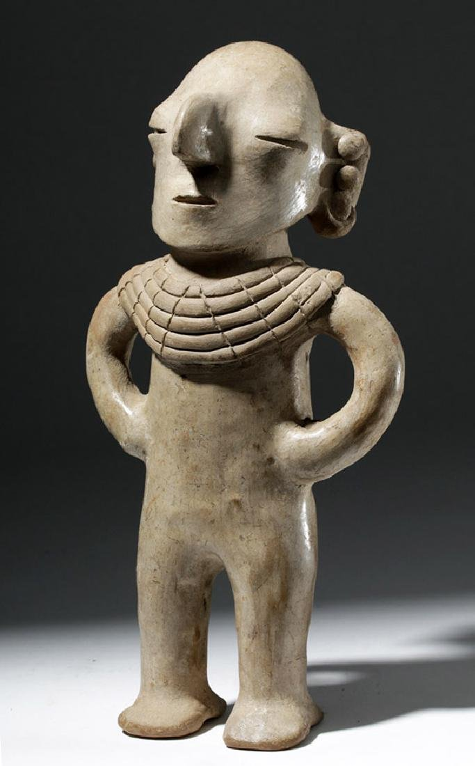 Very Rare Chorrera Pottery Human Figural Whistle - 5