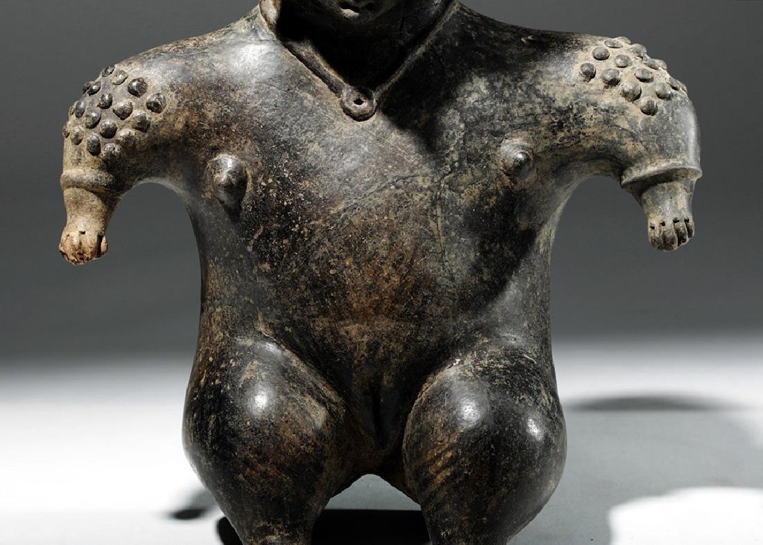 Colima Brownware Figural Vessel w/ Black Striations - 7