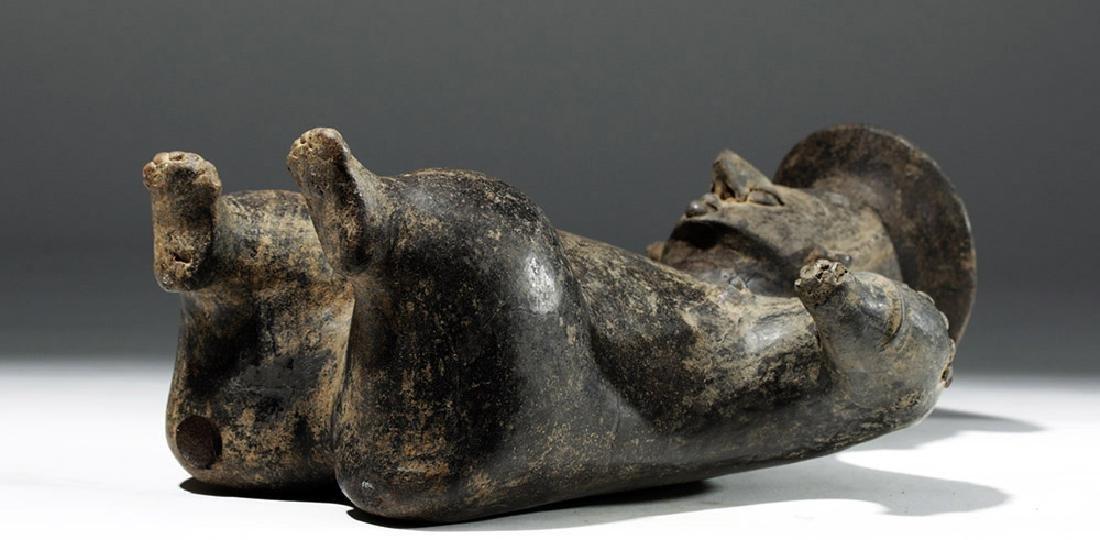 Colima Brownware Figural Vessel w/ Black Striations - 8
