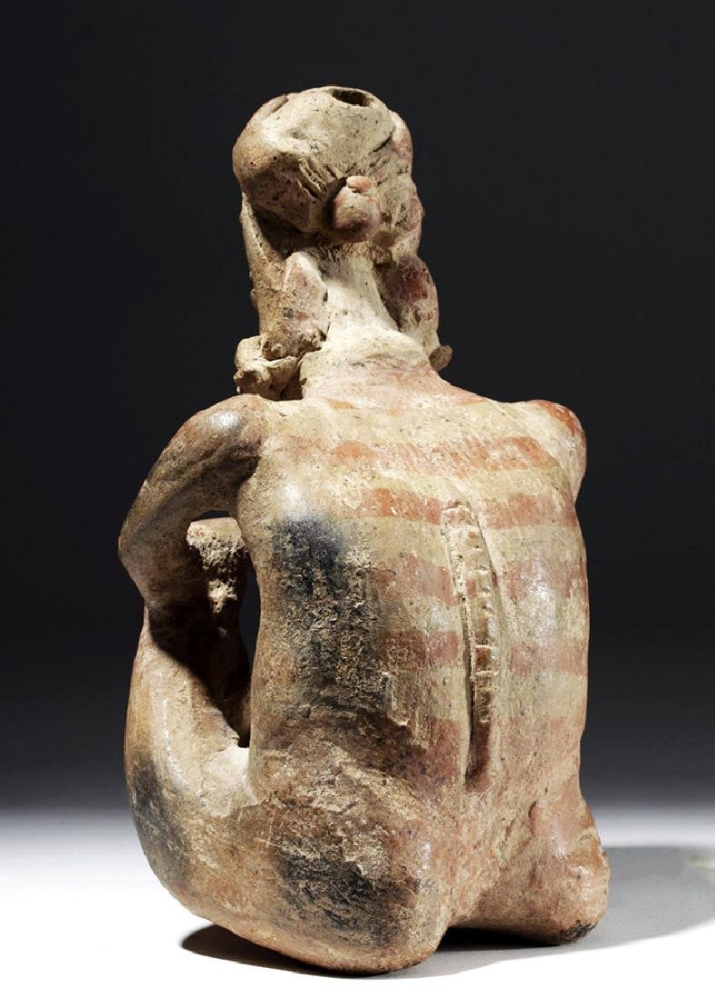 Jalisco Pottery Seated Pensador w/ Bubble Mouth - 2