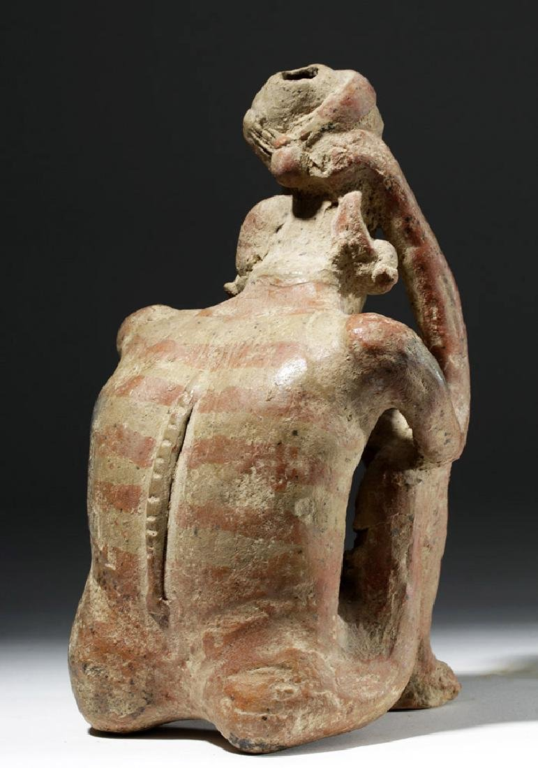 Jalisco Pottery Seated Pensador w/ Bubble Mouth - 3