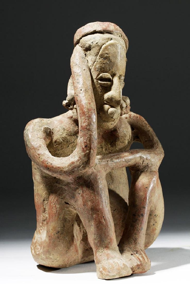 Jalisco Pottery Seated Pensador w/ Bubble Mouth - 4