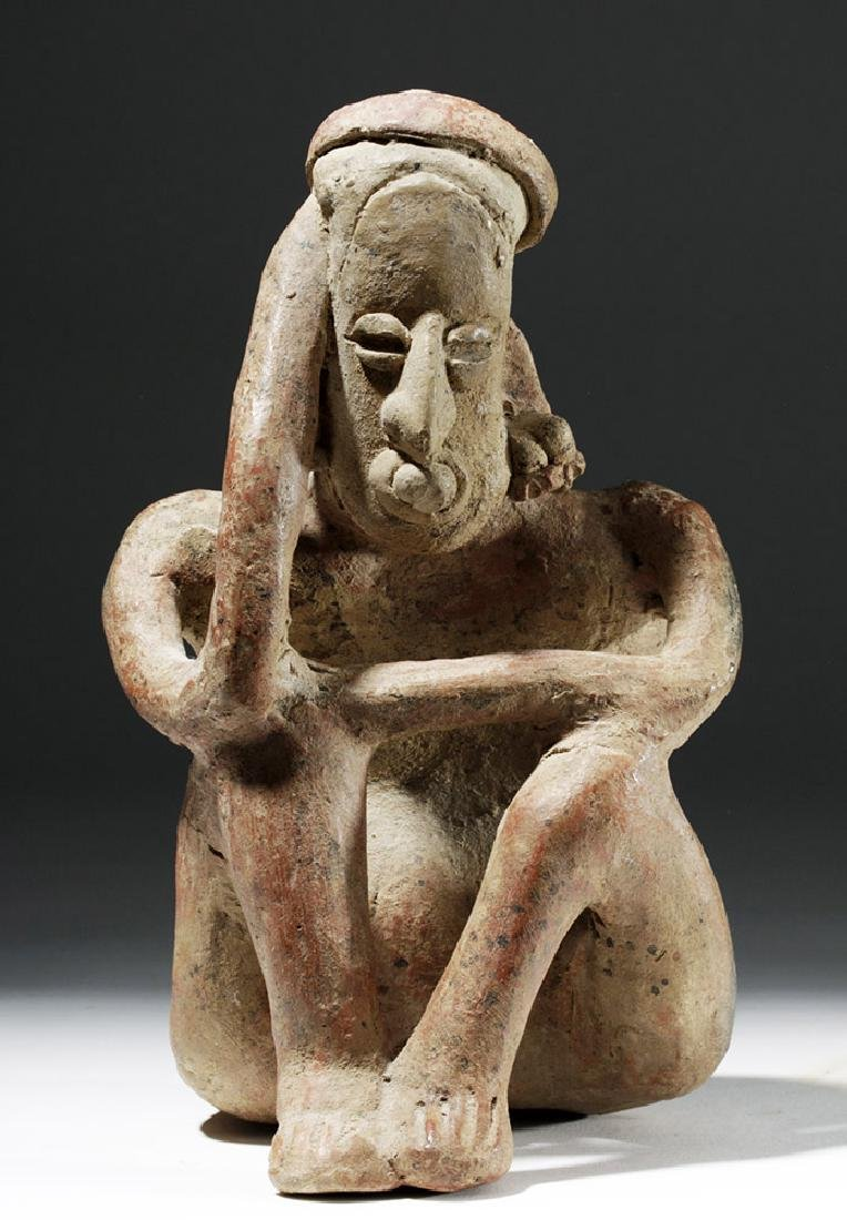 Jalisco Pottery Seated Pensador w/ Bubble Mouth - 5