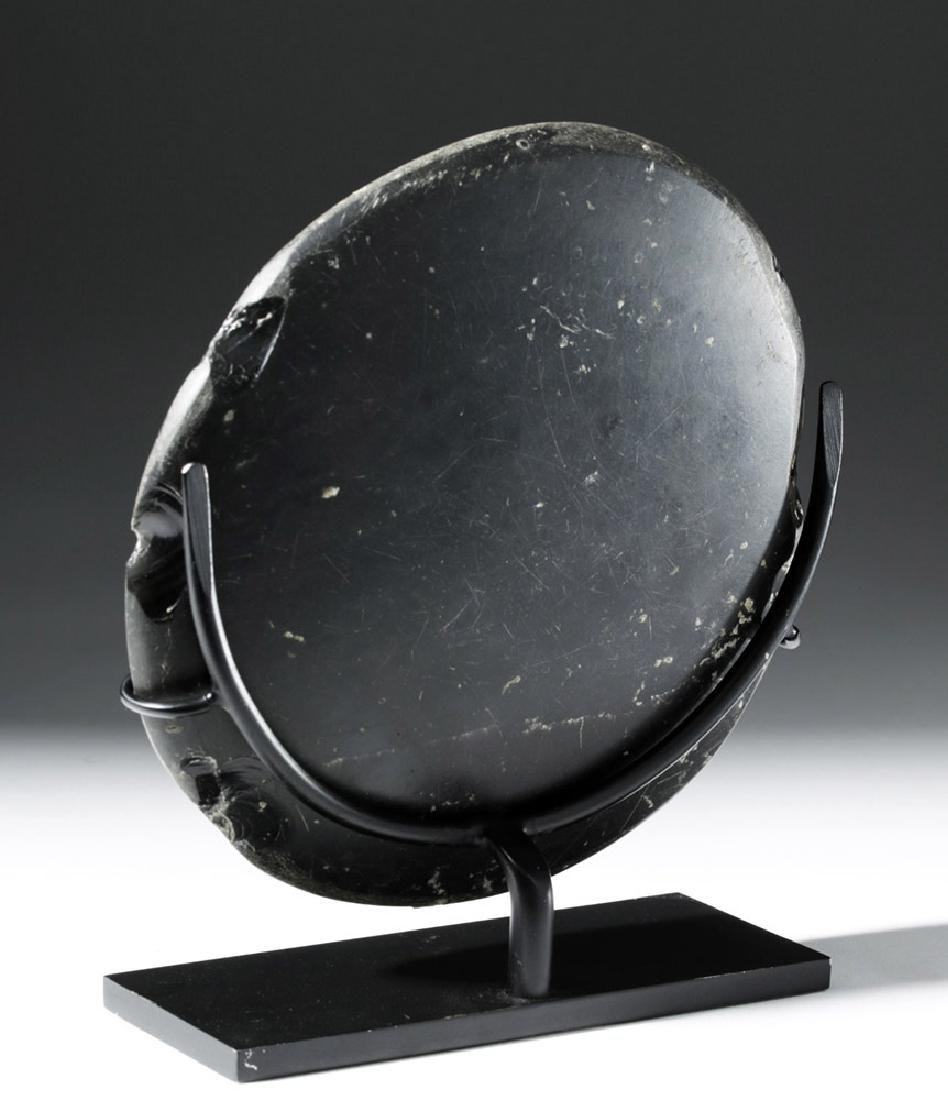 Large West Mexican Obsidian Mirror - 2
