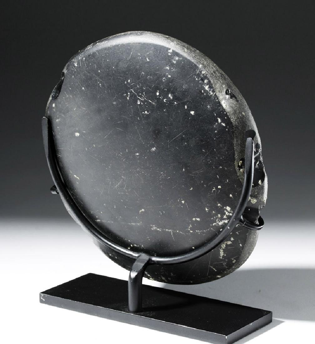 Large West Mexican Obsidian Mirror - 3