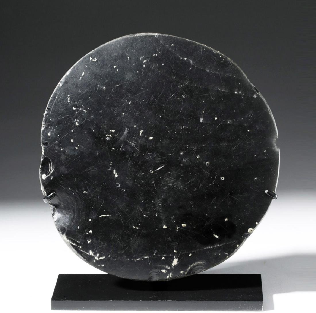 Large West Mexican Obsidian Mirror - 5