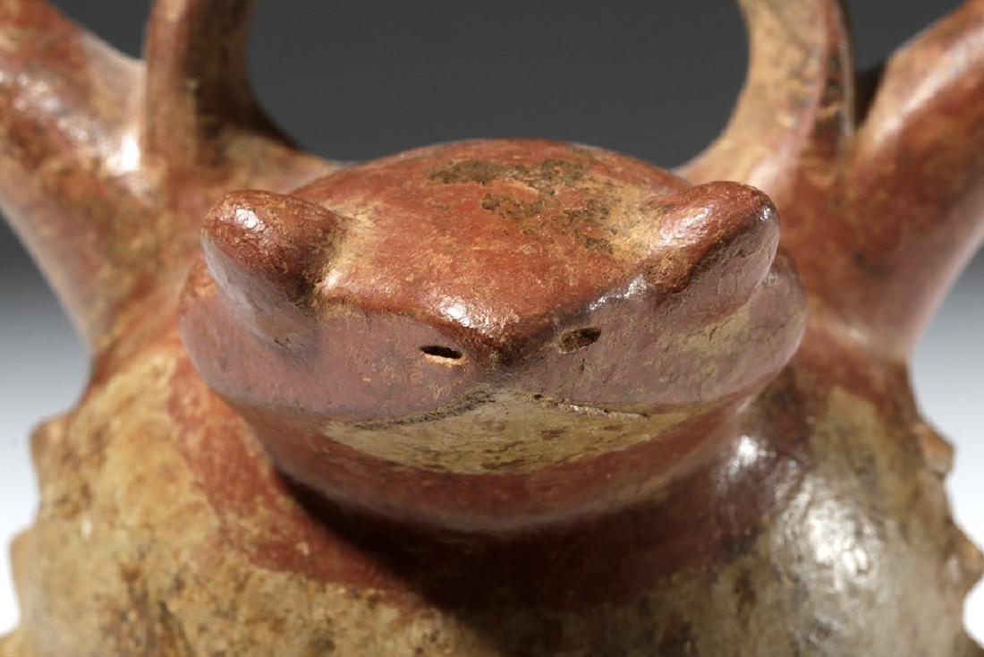 Calima Bichrome Toad / Frog Effigy Stirrup Vessel - 6