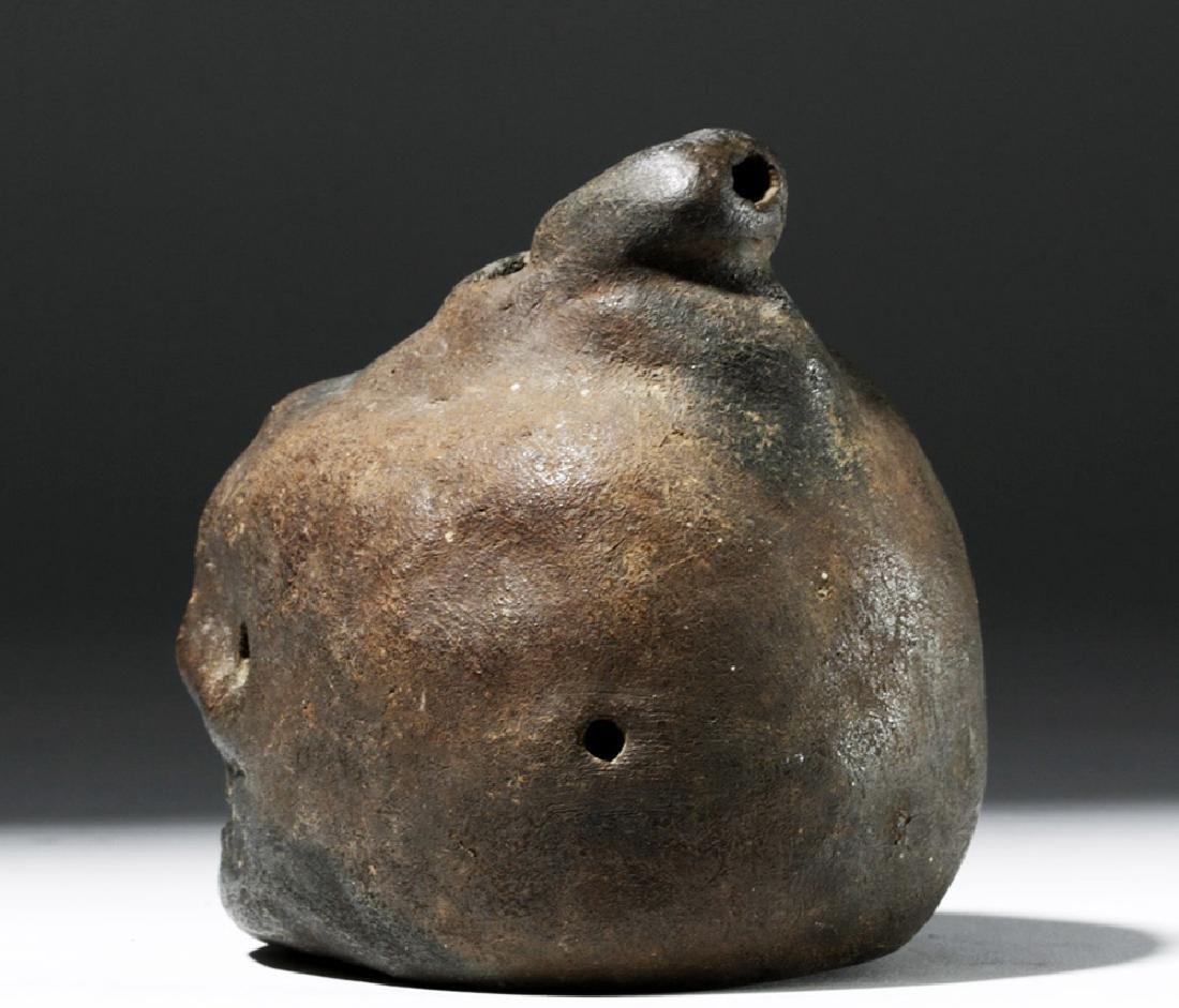 Wonderfully Macabre Veracruz Pottery Skull Ocarina - 2