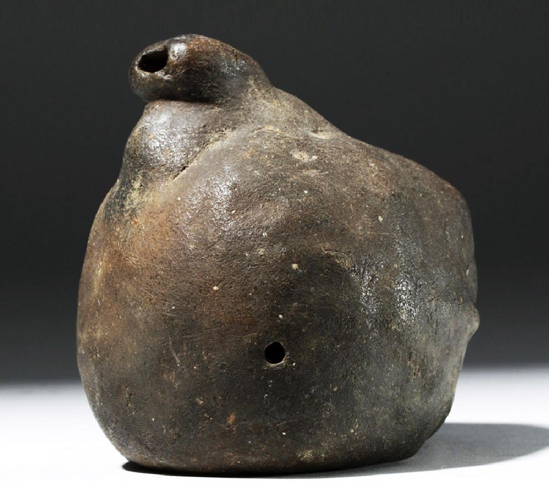 Wonderfully Macabre Veracruz Pottery Skull Ocarina - 3