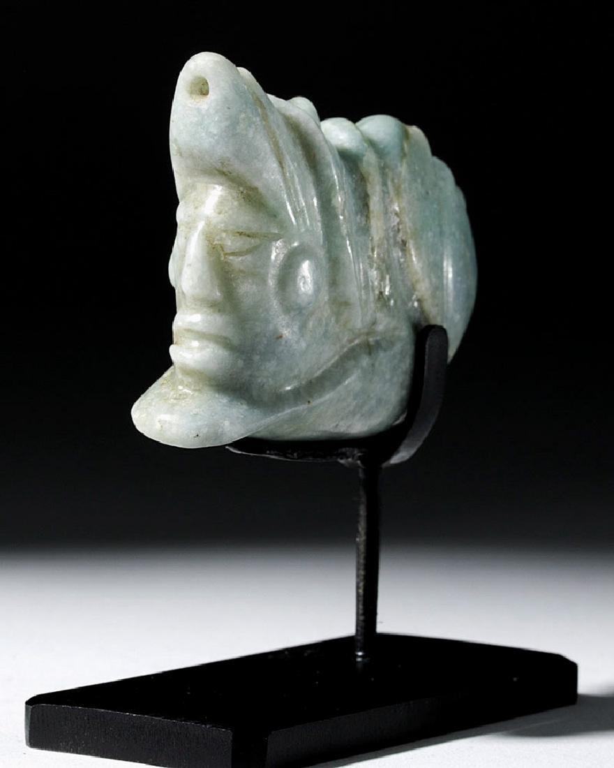 Mayan Jade Pendant - Deity Emerging from Snail