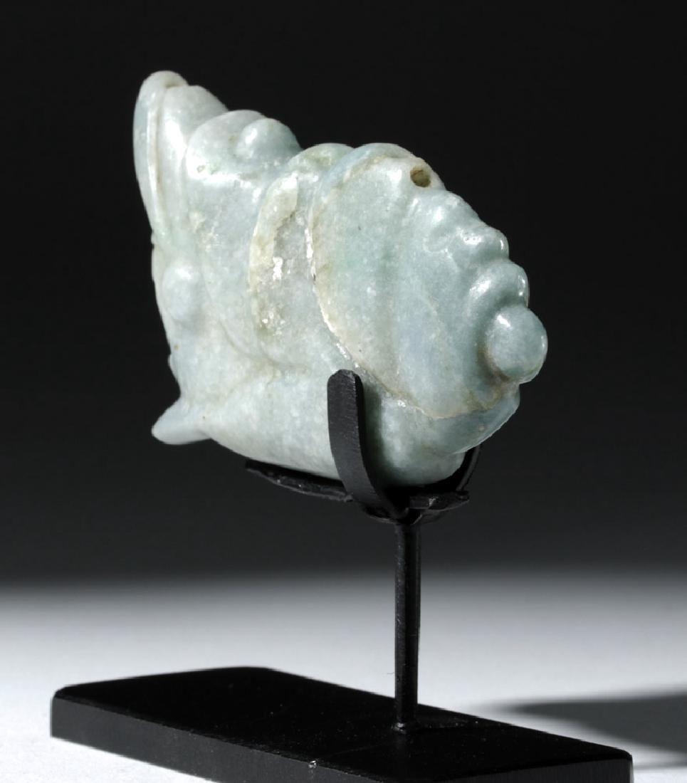 Mayan Jade Pendant - Deity Emerging from Snail - 2