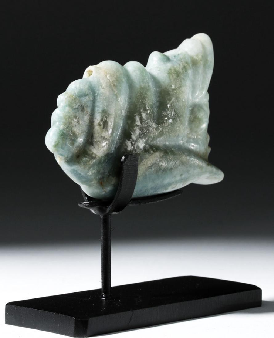 Mayan Jade Pendant - Deity Emerging from Snail - 3