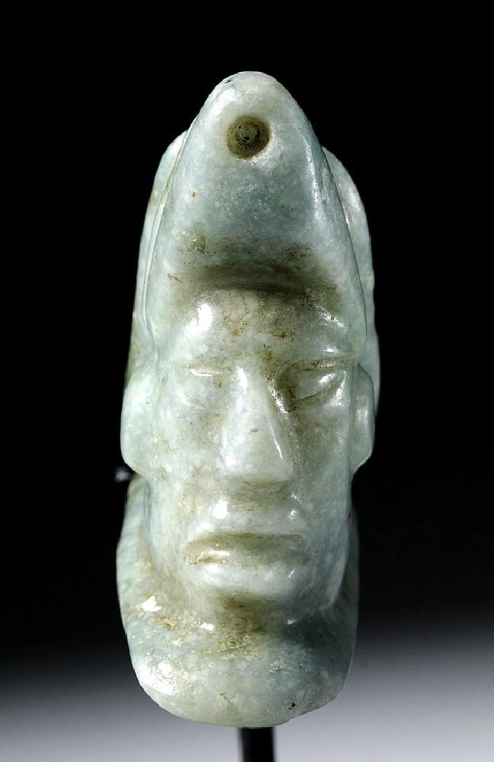 Mayan Jade Pendant - Deity Emerging from Snail - 5