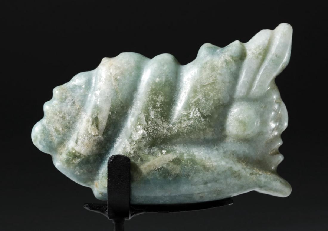 Mayan Jade Pendant - Deity Emerging from Snail - 6
